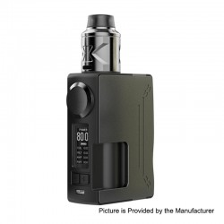 Authentic Hugsvape Surge 80W TC VW Squonk Mod + Piper BF RDA Kit - Grey, 7~80W, 1 x 18650 / 20700, 24mm Diameter
