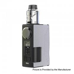 Authentic Hugsvape Surge 80W TC VW Squonk Mod + Piper BF RDA Kit - Silver, 7~80W, 1 x 18650 / 20700, 24mm Diameter