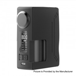 Authentic Hugsvape Surge 80W TC VW Variable Wattage Squonk Box Mod - Black, PC + Glass Fiber, 6ml, 7~80W, 1 x 18650 / 20700