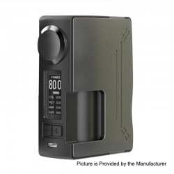 Authentic Hugsvape Surge 80W TC VW Variable Wattage Squonk Box Mod - Grey, PC + Glass Fiber, 6ml, 7~80W, 1 x 18650 / 20700