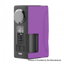 Authentic Hugsvape Surge 80W TC VW Variable Wattage Squonk Box Mod - Purple, PC + Glass Fiber, 6ml, 7~80W, 1 x 18650 / 20700