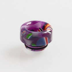 810 Replacement Drip Tip for TFV8 / TFV12 Tank / Goon / Kennedy / Reload RDA - Purple, Resin, 12mm