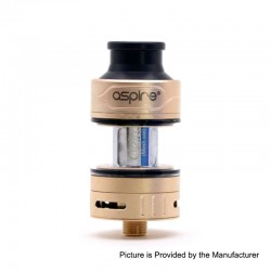 Authentic Aspire Cleito Pro Sub Ohm Tank Clearomizer - Gold, 3ml, 0.5 / 0.15 Ohm, 24mm Diameter