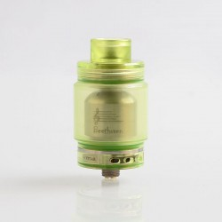 Authentic Ystar Beethoven RTA Rebuildable Tank Atomizer - Green, Resin + Stainless Steel, 5.5ml, 24.7mm Diameter