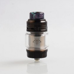 Authentic Voopoo Rimfire RTA Rebuildable Tank Atomizer - Tarnish, Stainless Steel + Glass, 5ml, 30mm Diameter