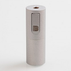 Vapeasy Mini B MiniB Style Mechanical Tube Mod - Matte Silver, Brass, 1 x 18650