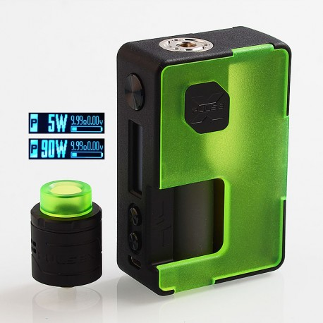 Authentic Vandy Vape Pulse X 90W TC VW Squonk Box Mod + Pulse X BF RDA Kit - Frosted Green, 5~90W, 1 x 18650 / 20700 / 21700