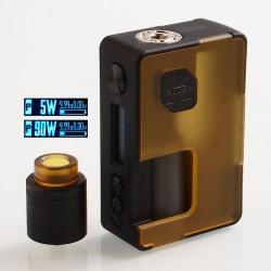 Authentic Vandy Vape Pulse X 90W TC VW Squonk Box Mod + Pulse X BF RDA Kit - Frosted Amber, 5~90W, 1 x 18650 / 20700 / 21700