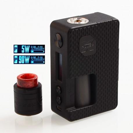Authentic Vandy Vape Pulse X 90W TC VW Squonk Box Mod + Pulse X BF RDA Kit - G10 Black, 5~90W, 1 x 18650 / 20700 / 21700