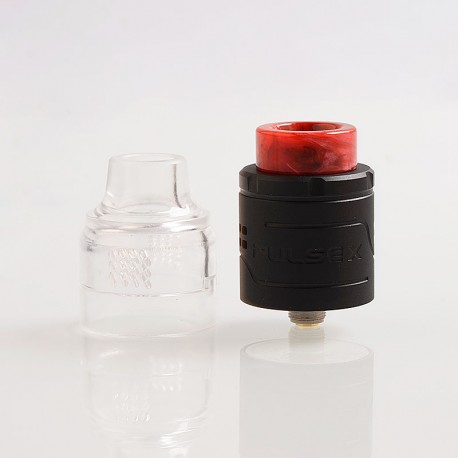 Authentic Vandy Vape Pulse X RDA Rebuildable Dripping Atomizer w/ BF Pin - Matte Black, Stainless Steel, 24mm Diameter