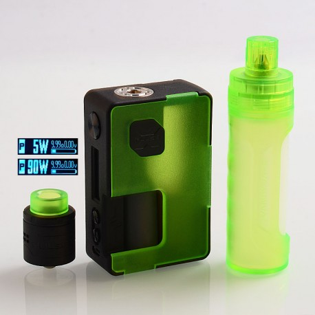 Authentic Vandy Vape Pulse X 90W TC VW Box Mod + BF RDA Kit High-End Version - Frosted Green, 5~90W, 1 x 18650 / 20700 / 21700
