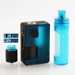 Authentic Vandy Vape Pulse X 90W TC VW Box Mod + BF RDA Kit High-End Version - Frosted Cyan, 5~90W, 1 x 18650 / 20700 / 21700