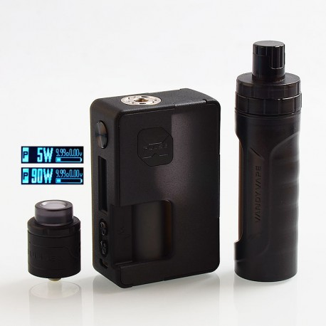 Authentic Vandy Vape Pulse X 90W TC VW Box Mod + BF RDA Kit High-End Version - Frosted Black, 5~90W, 1 x 18650 / 20700 / 21700