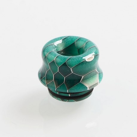 810 Replacement Drip Tip for TFV8 / TFV12 Tank / Goon / Kennedy / Reload RDA - Green, Resin, 14mm