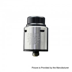 Authentic Advken Twirl RDA Rebuildable Dripping Atomizer w/ BF Pin - Silver, Stainless Steel, 24mm Diameter