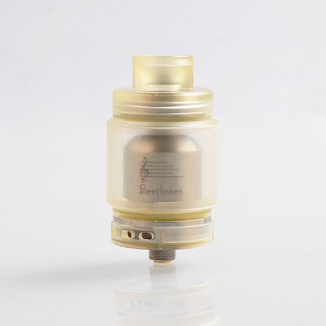 Authentic Ystar Beethoven RTA Rebuildable Tank Atomizer - Yellow, Resin + Stainless Steel, 5.5ml, 24.7mm Diameter