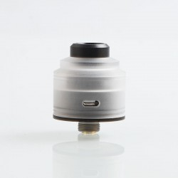 Authentic GAS Mods Nixon S RDA Rebuildable Dripping Atomizer w/ BF Pin - Clear + Black, PC + Stainless Steel, 22mm Diameter