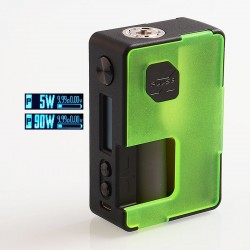 Authentic Vandy Vape Pulse X 90W TC VW Variable Wattage Squonk Box Mod - Frosted Green, 5~90W, 1 x 18650 / 20700 / 21700