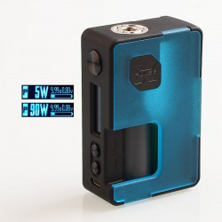 Authentic Vandy Vape Pulse X 90W TC VW Variable Wattage Squonk Box Mod - Frosted Cyan, 5~90W, 1 x 18650 / 20700 / 21700