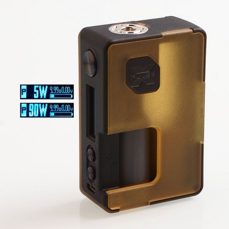 Authentic Vandy Vape Pulse X 90W TC VW Variable Wattage Squonk Box Mod - Frosted Amber, 5~90W, 1 x 18650 / 20700 / 21700