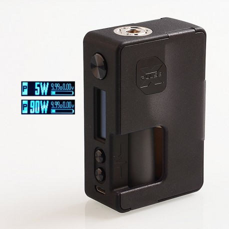 Authentic Vandy Vape Pulse X 90W TC VW Variable Wattage Squonk Box Mod - Frosted Black, 5~90W, 1 x 18650 / 20700 / 21700