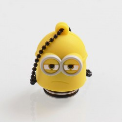 Authentic Vapesoon Minions 810 Drip Tip w/ Cap for TFV8 Tank / Goon / Reload RDA - Yellow, Resin + SS + Silicone, 28mm