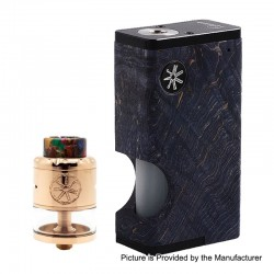 Authentic Asmodus Luna 80W Squonk Box Mod + Nefarius TF / BF RDTA Kit - Blue + Rose Gold, 6ml, 1 x 18650, 4ml, 25mm Dia