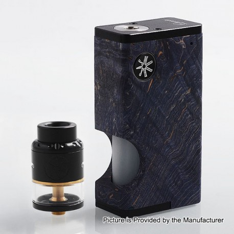Authentic Asmodus Luna 80W Squonk Box Mod + Nefarius TF / BF RDTA Kit - Blue + Black, 6ml, 1 x 18650, 4ml, 25mm Dia