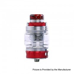 Authentic Desire Bulldog Sub Ohm Tank Clearomizer - Red, Stainless Steel + Aluminum, 4.3ml, 0.18 Ohm, 24.5mm Diameter