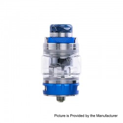 Authentic Desire Bulldog Sub Ohm Tank Clearomizer - Blue, Stainless Steel + Aluminum, 4.3ml, 0.18 Ohm, 24.5mm Diameter