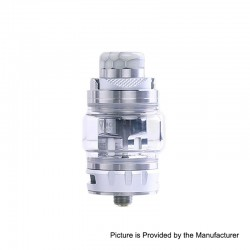 Authentic Desire Bulldog Sub Ohm Tank Clearomizer - Silver, Stainless Steel + Aluminum, 4.3ml, 0.18 Ohm, 24.5mm Diameter
