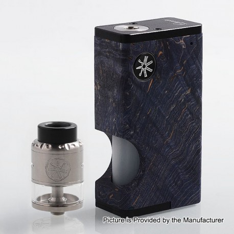 Authentic Asmodus Luna 80W Squonk Box Mod + Nefarius TF / BF RDTA Kit - Blue + Silver, 6ml, 1 x 18650, 4ml, 25mm Dia
