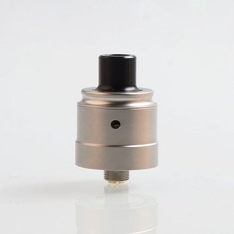 Authentic Ambition Mods C-Roll RDA Rebuildable Dripping Atomizer w/ BF Pin - Silver, 316 Stainless Steel + Delrin, 22mm Dia