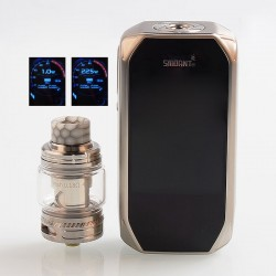 Authentic Smoant Naboo 225W TC VW Variable Wattage Box Mod + Naboo Mesh Tank Kit - Silver, 1~225W, 2 x 18650, 4ml