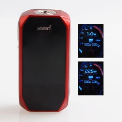 Authentic Smoant Naboo 225W TC VW Variable Wattage Box Mod - Red, 1~225W, 2 x 18650