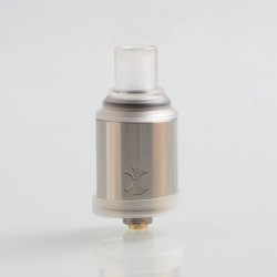 Authentic Digiflavor Etna RDA Rebuildable Dripping Atomizer w/ BF Pin - Silver, Stainless Steel, 18mm Diameter