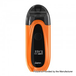 Authentic IJOY IVPC 9W 450mAh All-in-one Pod System Starter Kit - Mirror Orange, 2ml, 1.6 Ohm