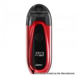 Authentic IJOY IVPC 9W 450mAh All-in-one Pod System Starter Kit - Mirror Red, 2ml, 1.6 Ohm