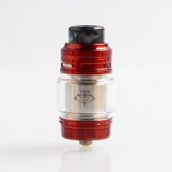 Authentic Voopoo Rimfire RTA Rebuildable Tank Atomizer - Red, Stainless Steel + Glass, 5ml, 30mm Diameter