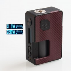 Authentic Vandy Vape Pulse X 90W TC VW Variable Wattage Squonk Box Mod - G10 Red, 5~90W, 1 x 18650 / 20700 / 21700