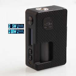 Authentic Vandy Vape Pulse X 90W TC VW Variable Wattage Squonk Box Mod - G10 Black, 5~90W, 1 x 18650 / 20700 / 21700