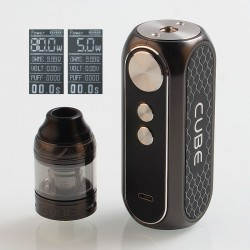 Authentic OBS Cube 80W 3000mAh VW Variable Wattage Starter Kit - Gun Metal, Zinc Alloy + Stainless Steel, 4ml, 0.2 Ohm