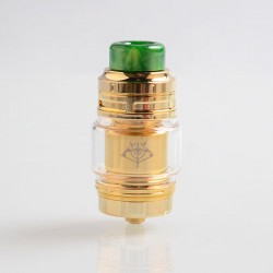 Authentic Voopoo Rimfire RTA Rebuildable Tank Atomizer - Gold, Stainless Steel + Glass, 5ml, 30mm Diameter