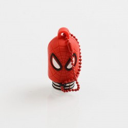 Authentic Vapesoon Spider Man 810 Drip Tip w/ Cap for TFV8 / TFV12 Tank / Goon / Reload RDA - Red, Resin + SS + Silicone, 35mm