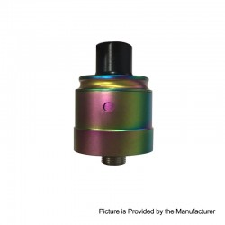 Authentic Ambition Mods C-Roll RDA Rebuildable Dripping Atomizer w/ BF Pin - Rainbow, 316 Stainless Steel + Delrin, 22mm Dia