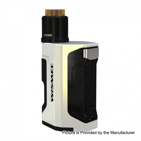Authentic Wismec Luxotic DF 200W TC VW Squonk Box Mod + Guillotine V2 BF RDA Kit - White, 7ml, 1~200W, 2 x 18650, 24mm