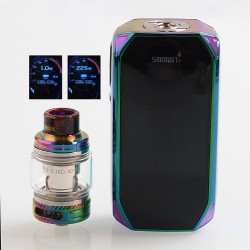 Authentic Smoant Naboo 225W TC VW Variable Wattage Box Mod + Naboo Mesh Tank Kit - Rainbow, 1~225W, 2 x 18650, 4ml
