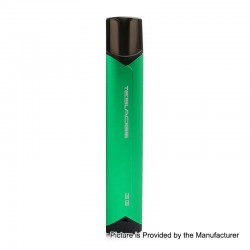 Authentic Tesla GG 380mAh TC VV Pod System Starter Kit with Bluetooth - Green, Aluminum Alloy + PC, 2ml, 1.5 Ohm
