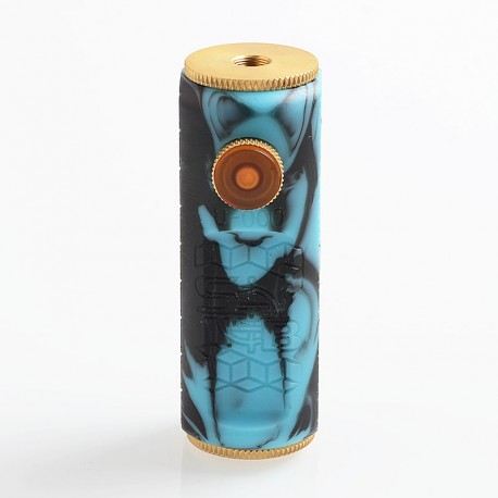 SOB Uno Bersikulo Style Hybrid Mechanical Mod - Blue + Black, Resin + Brass, 1 x 18650
