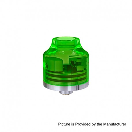 Authentic Oumier Wasp Nano Mini RDA Rebuildable Dripping Atomizer w/ BF Pin - Transparent Green, PC + SS, 22mm Diameter